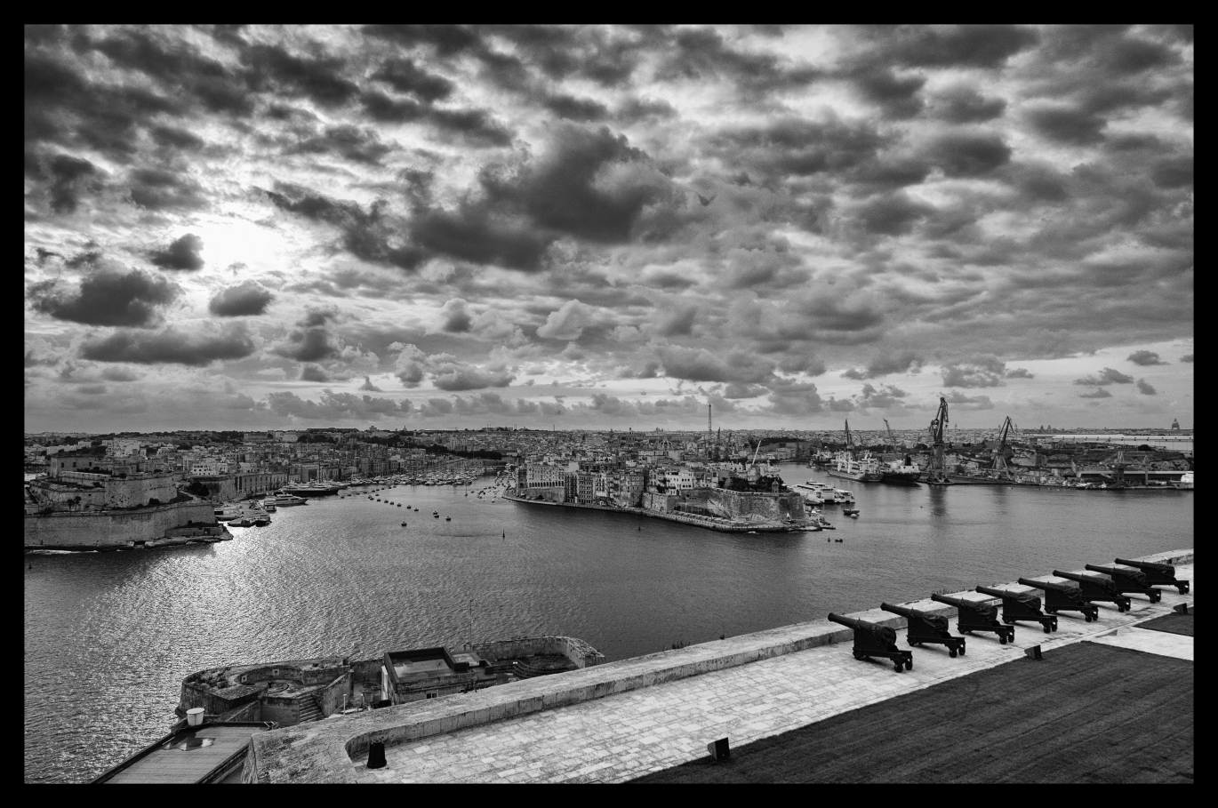 Sunrise over Valletta Grand Harbour